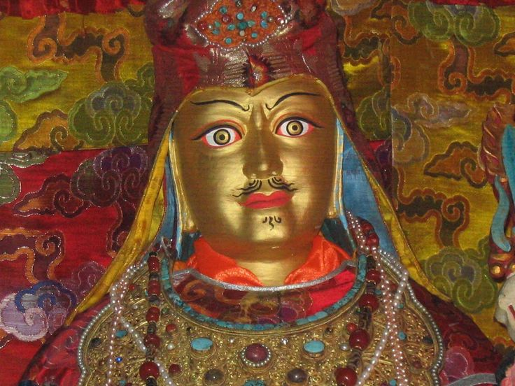 """The famous """"Looks-Like-Me"""" statue of Guru Rinpoche in Samye the first Monastery in Tibet"""