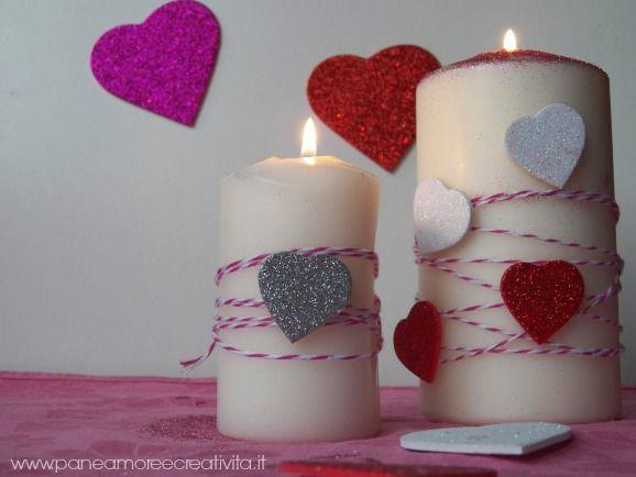 Candele romantiche per la tavola