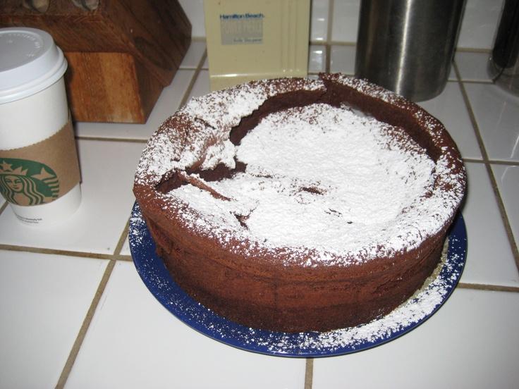 Fallen Chocolate Souffle Cake | Food | Pinterest