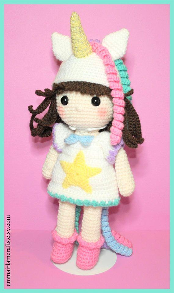 Amigurumi Unicorn Doll - Candy Unicorn Girl & Her Unicorn Toy ... | 960x570