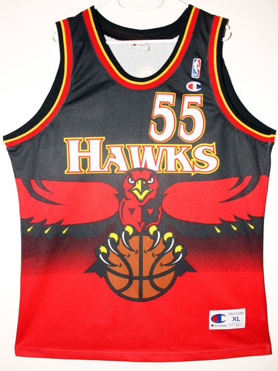 Champion NBA Basketball Atlanta Hawks #55 Dikembe Mutombo Trikot/Jersey Size 48 - Größe XL - 299,90€ #nba #basketball #trikot #jersey #etsy #sport #fitness #fanartikel #merchandise #usa #america #fashion #mode #collectable #memorabilia #allbigeverything