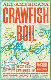 The annual All\-Americana Crawfish Boil will take place at Home Team BBQ's downtown location on Saturday, April 29\. From 2:00\-7:00 p\.m\., guests can enjoy live music and a plate of crawfish for $15 in advance, $20 at the door\. Additional plates can be purchased for $10 each\. There will be New Orleans inspired special cocktails such as hurricanes served as well\. To purchase tickets, visit http://bit\.ly/2mGXbop\.