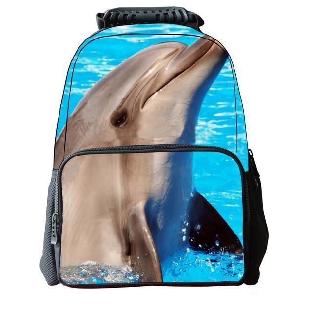 2016 New Boys Animal Schoolbags 3D Dinosaur Printing Children's School Bags Laptop Backpacks 16 inch Satchel Mochila Escolar