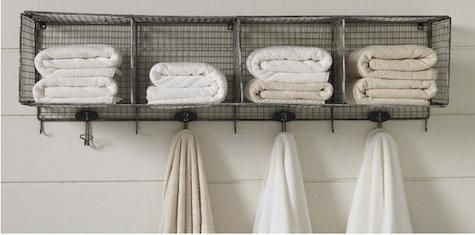 Spotted on Northern California–based organic linens company Coyuchi's site: a clever idea for keeping towels organized. A handy technique when houseguests arrive (just assign a number).