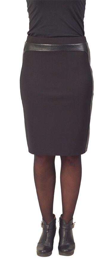 Vassalli Leather Look Pencil Skirt www.sassys.co.nz