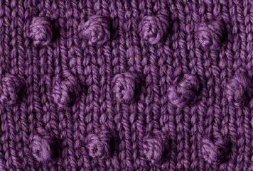 Nopes / Bobble Stitch | Point de tricot, Point de chaînette, Maille torse