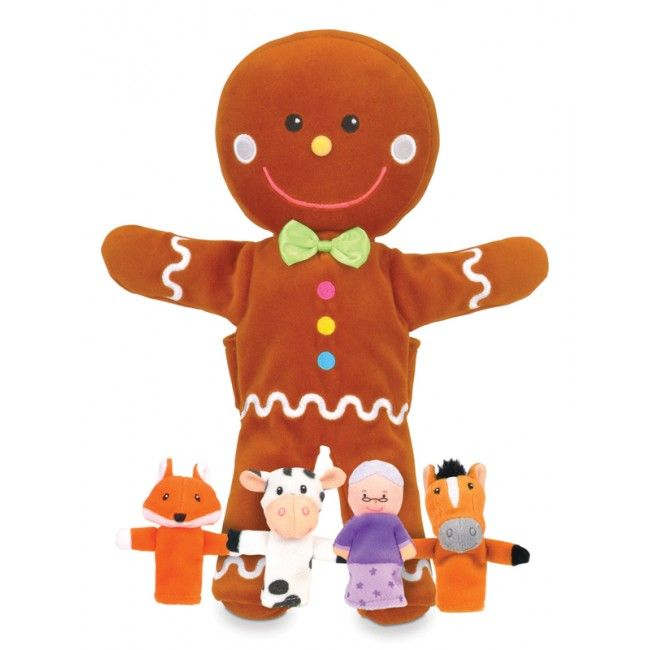 #Entropywishlist #pintowin So cute to play with our puppet theatre. Fiesta Crafts - Gingerbread Man Hand and Finger Puppet Set