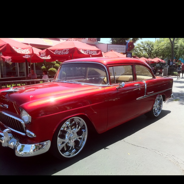 Pin by Tony Lorenzo on 55 Bel Air Chevy, Six flags over