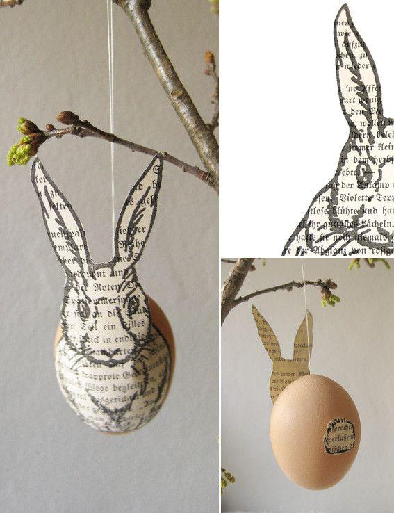 Die Raumfee: Belesene Eierhasen . Literate egg-bunnies - http://dieraumfee.blogspot.de/2012/03/belesene-eierhasen-literate-egg-bunnies.html