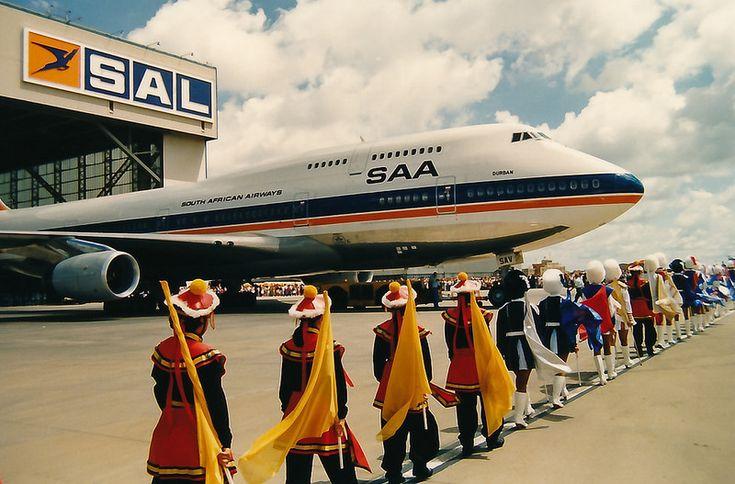 SAA 747-400 ZS-SAV Durban 26 January 1991