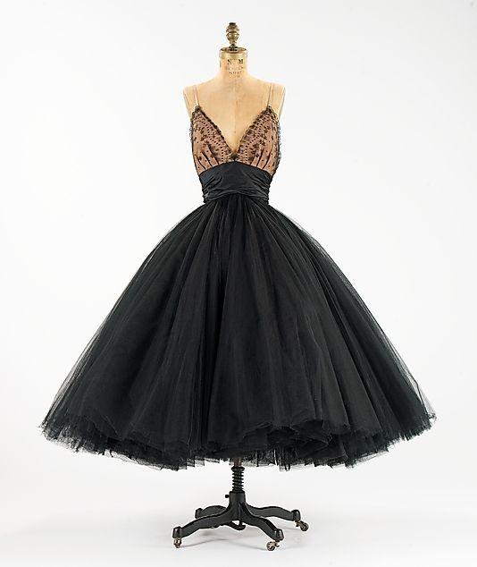 Traina-Norell Silk Evening Dress, 1955