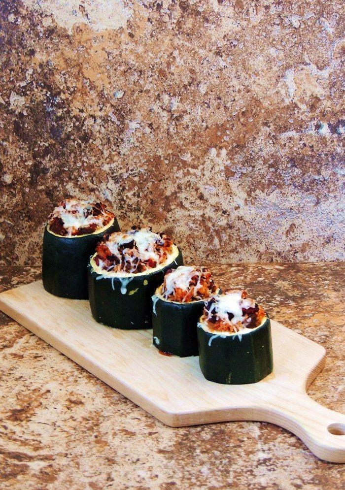 Sausage Stuffed Zucchini Cups #SundaySupper | Bobbi's Kozy Kitchen