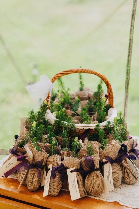 chic wedding favor for rustic wedding