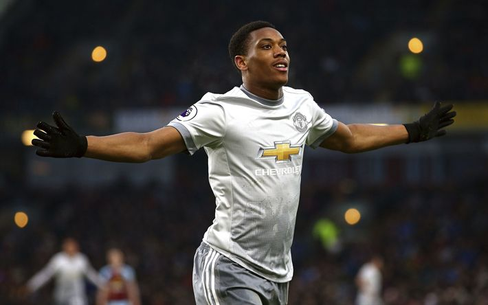 Download wallpapers Anthony Martial, Manchester United, portrait, french football player, Premier League, England, United Kingdom