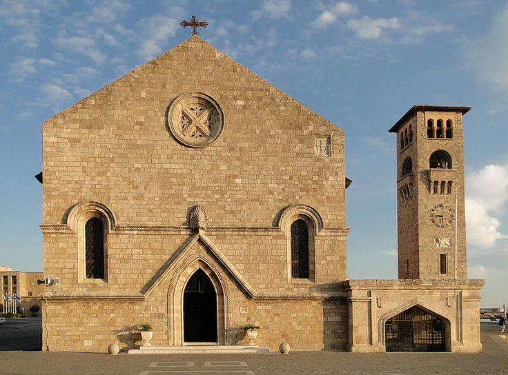 Evangelismos church at the port, by Florestano Di Fausto.(Rhodes city)