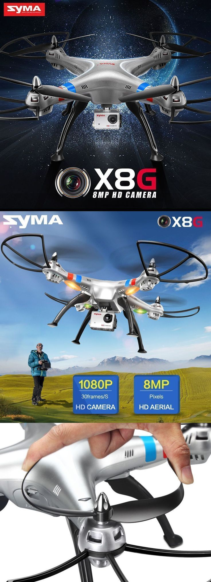 Syma X8G 2.4Ghz 4CH 6-Axis Gyro 8MP HD Camera RC #quadcopter Drone GoPro Style | drone | syma | drone with camera | drone camera | drones for sale | dron | camera drone | best drones | rc drone | quadcopter with camera | best drones with camera | rc quadcopter | gopro drone | best camera drone | best quadcopter | quadcopter drone | quadcopter | #droneswithcamera