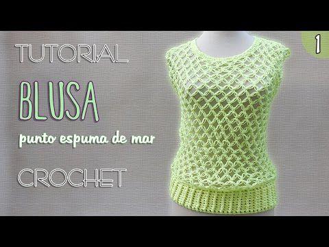 Blusa punto nudo salomon (1 de 3)   Tutorial Crochet paso a paso - YouTube