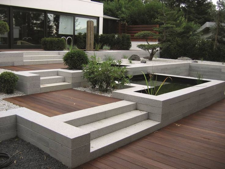 267 best Garten images on Pinterest Landscaping, Backyard patio - vorgarten modern kies