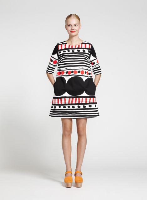 Pihla dress (white, black, red) |Clothing, Women, Dresses & skirts | Marimekko