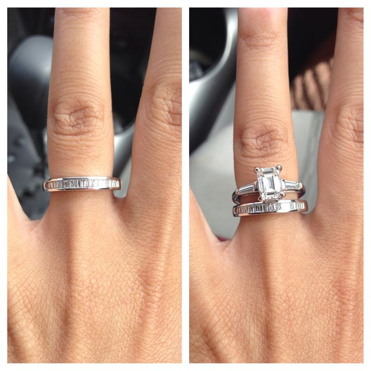 baguette wedding bands emerald cut and emerald cut rings