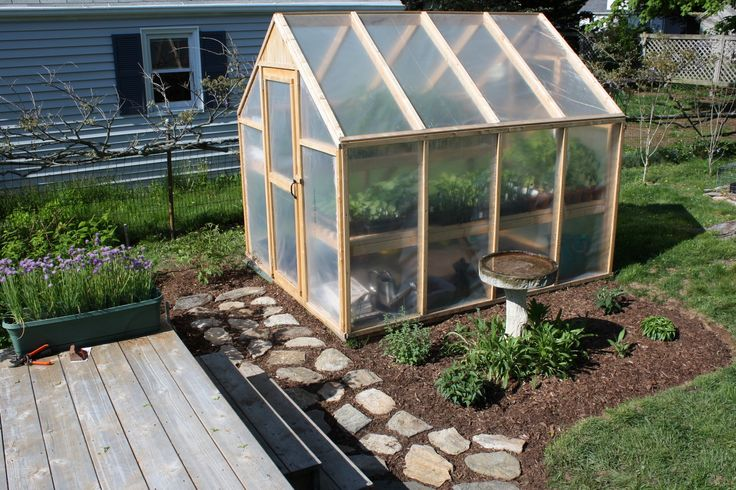 Building a Greenhouse: plans for this 6x8 greenhouse cost only $150 including the hardware!