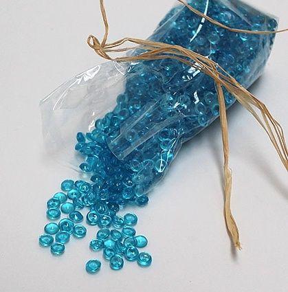 Plastikperler i pose – Blå