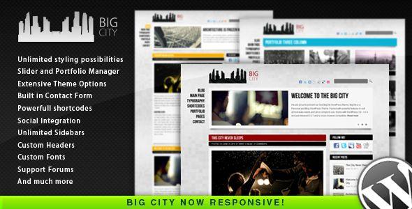 Big City – Responsive Personal and Blog WordPress Simple Theme