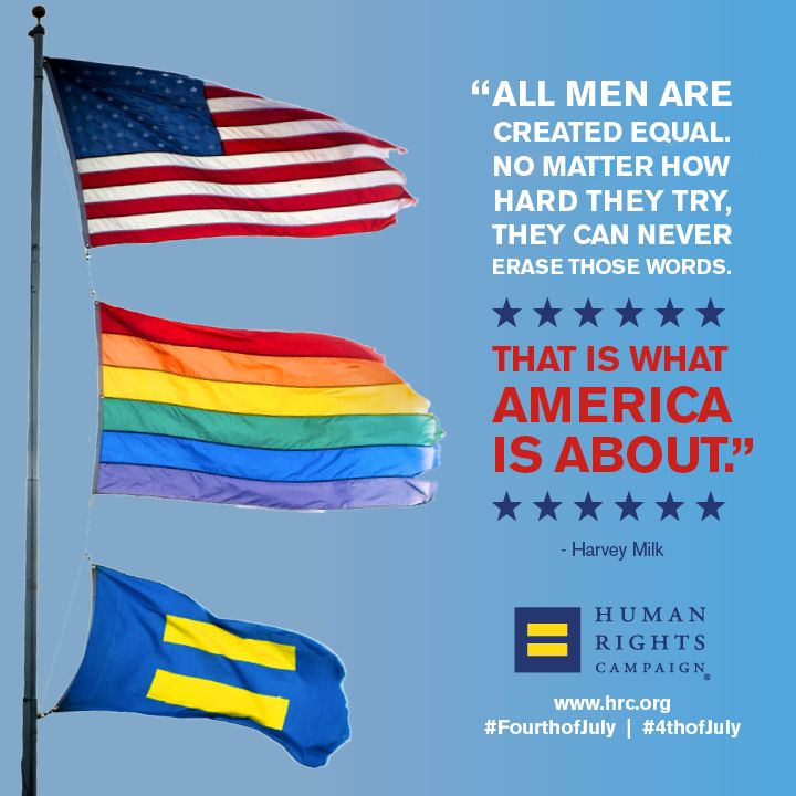 Happy Fourth of July from HRC! Today we proudly honor our brave service members, including those who are LGBTQ, who fight for our freedom to live openly.