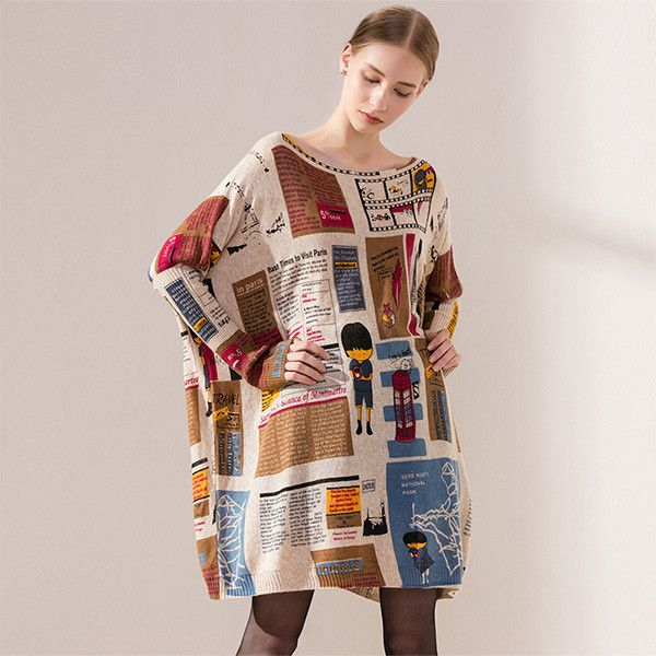 Oversized Sweater Autumn Casual Long Women Sweater Coat Batwing Sleeve Loose Sweaters For Women Clothes Pullovers Clothing