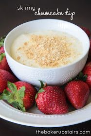 the baker upstairs: skinny cheesecake dip