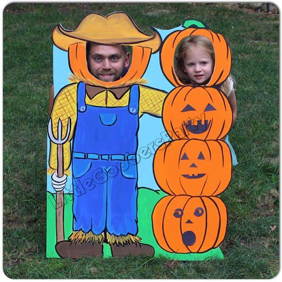 Pumpkin Photo Booth Prop foam board Personalized Scarecrow