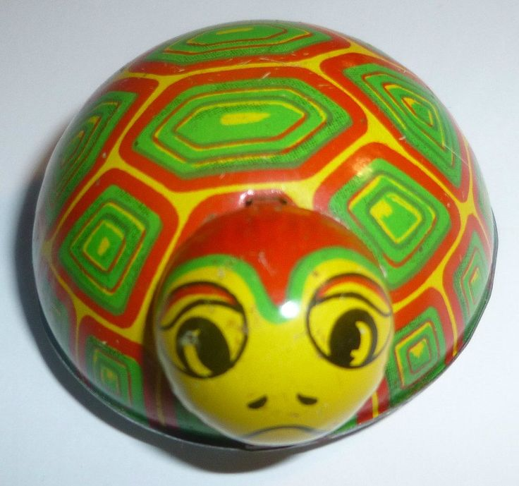 Koyo TIn Friction Toy Turtle, 1950s by thecollectiblechest on Etsy https://www.etsy.com/listing/111515689/koyo-tin-friction-toy-turtle-1950s