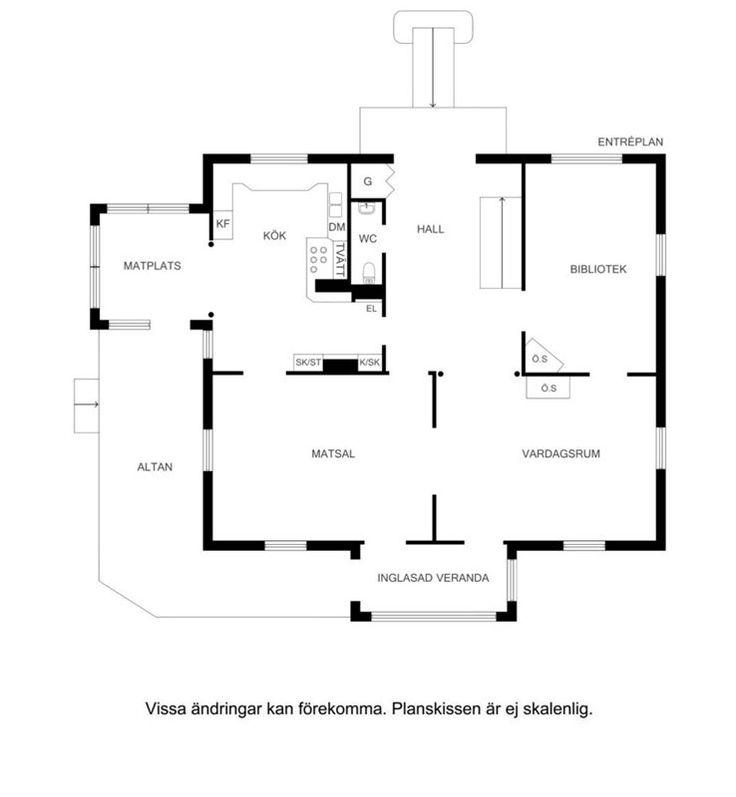 Planskiss våning 2 entréplan