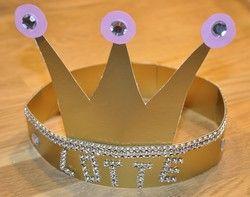 Prinzessinnen Krone selber basteln