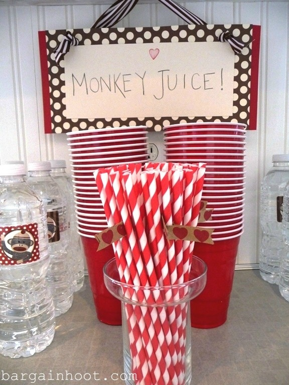 Use a punch bowl and red solo cups - PERFECT!