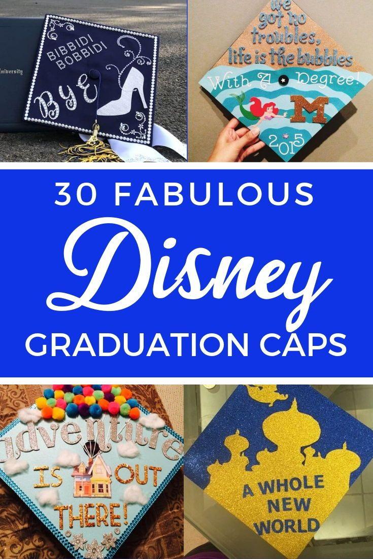30 Magical Disney Graduation Caps Disney Graduation Cap Disney Graduation Disney Grad Caps