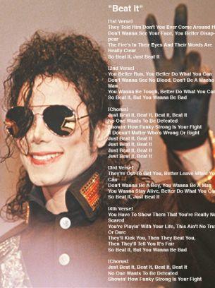 Michael jackson songs lyrics free download