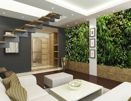 I would LOVE a green wall in my house. Can you believe there are Design Services focused on living walls?
