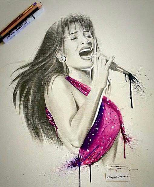 Selena art work not mine yet it is beautiful
