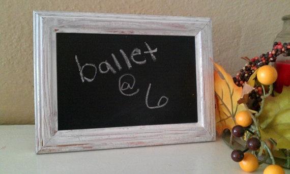 distressed 4 x 6 chalkboard frame by sarabeth181 on Etsy, $8.00