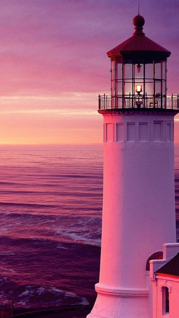 Lighthouse in the pink