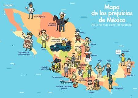 El mapa de los prejuicios de México: así se ven unos a otros los mexicanos según el estado