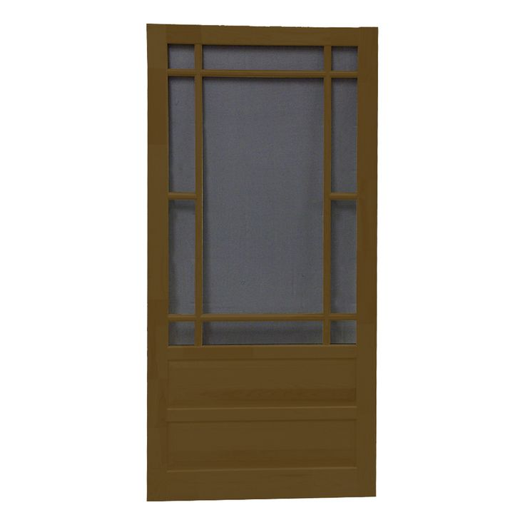 Shop Screen Tight Wood Screen Door (Common: 30-in x 80-in; Actual: 30-in x 80-in) at Lowes.com