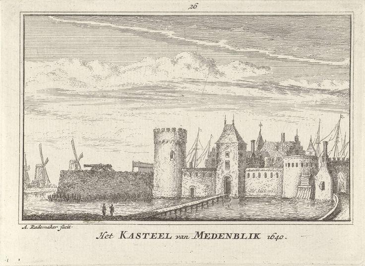 Kasteel Radboud te Medemblik, Abraham Rademaker, Willem Barents, Antoni Schoonenburg, 1727 - 1733