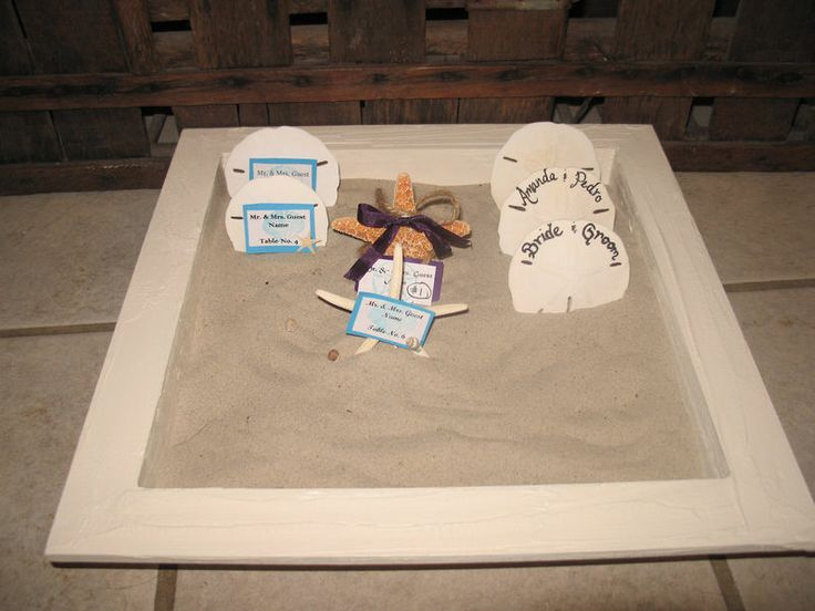 Beach Wedding Sea Shell Decorated Painted Sand Box -XL Size for Guest Favors like Sand Dollar or Starfish- Choice of Color