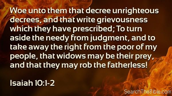 Daily Bible Verse Isaiah 10:1-2
