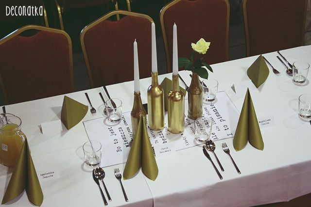 Industrial party, gold, bottles, chandelier, wedding Studniówka w Tlenowni! W końcu Totalnie industrialnie ♥