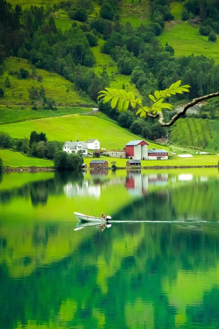 Green reflections, Stryn, Norway