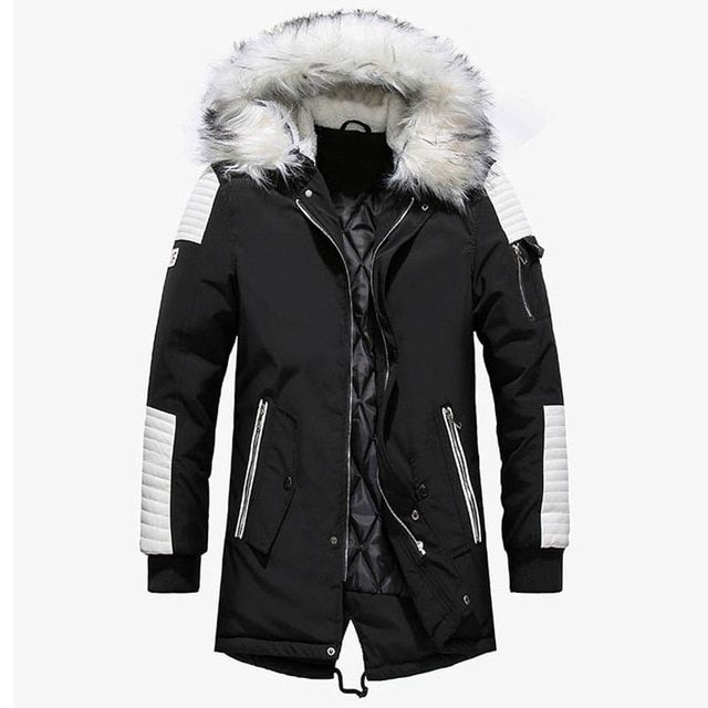 07ceab278 Dropshipping New Winter Jacket Men Thicken Warm Parkas Casual Long ...