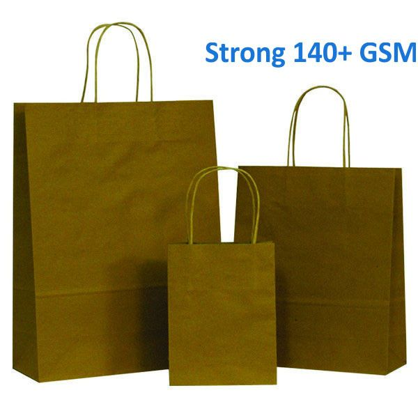Natural Brown Paper Carrier Bag with Twisted Handles – Pico Bags